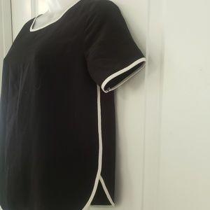 Forever 21 black & white short sleeve blouse sz sm
